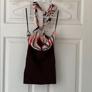 Bebe Silk halter top